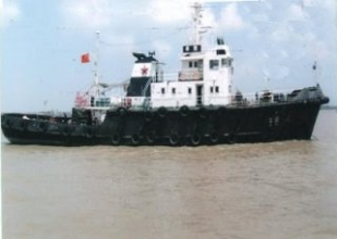 Ice breaking coastal tugboat